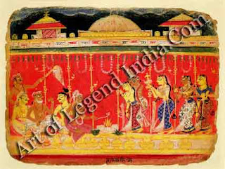 The marriage of Krishna's parents From a dispersed manuscript of the Bbagavata Purana Rajasthan