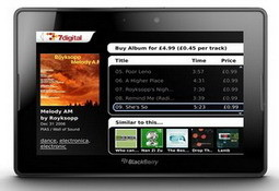 BlackBerry PlayBook to preload 7digital Music Store