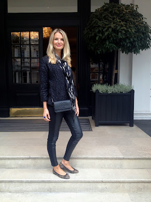 street style, street style london, cos jumper, cos, zara, zara leggings, zara leather legging, french sole