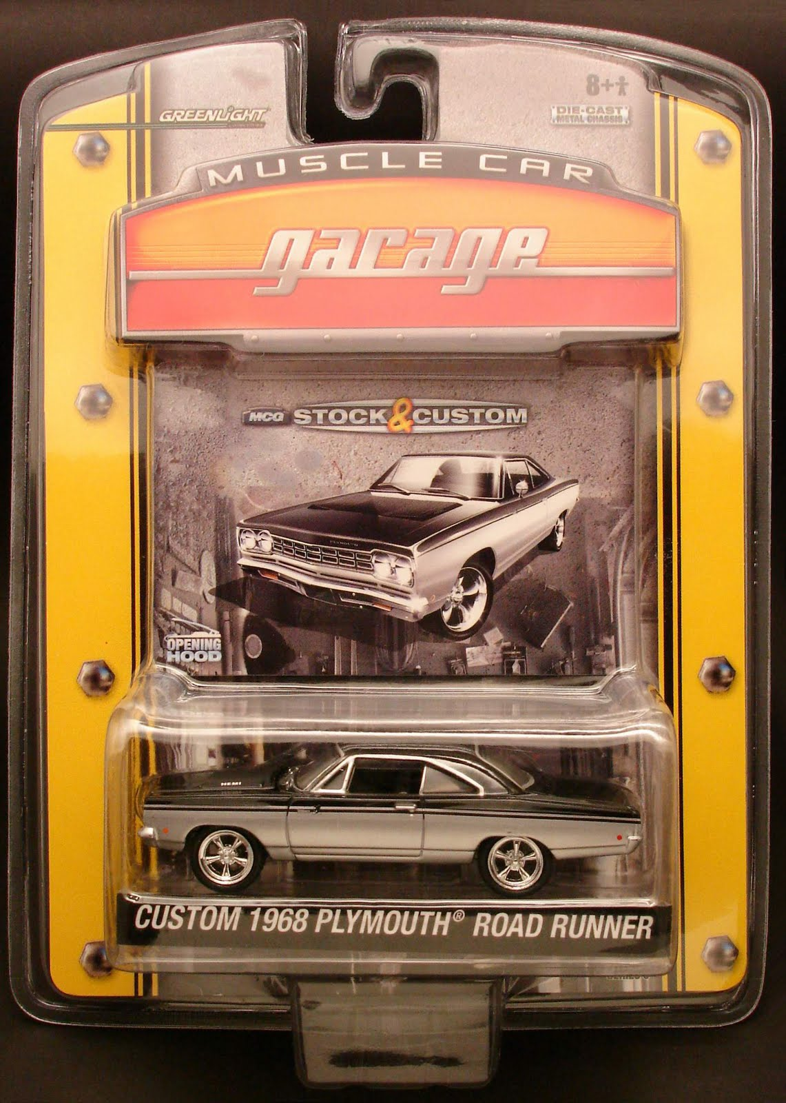 diecast hobbist  greenlight muscle car garage stock  u0026 custom series 5