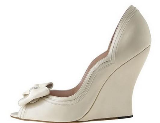 Inexpensive Choice Wedge Wedding Shoes Under $100 | bridal wedding ...