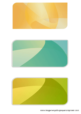 Tarjetas de colores para imprimir