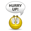 """Hurry Up!"" Smiley 
