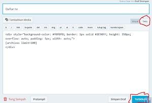 Cara Membuat Daftar Isi Untuk Blog Wordpress