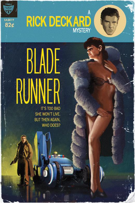Blade Runner Pulp Cover por TimAnderson310