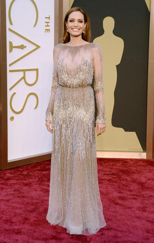 Oscars 2014 Red Carpet, Angelina Jolie