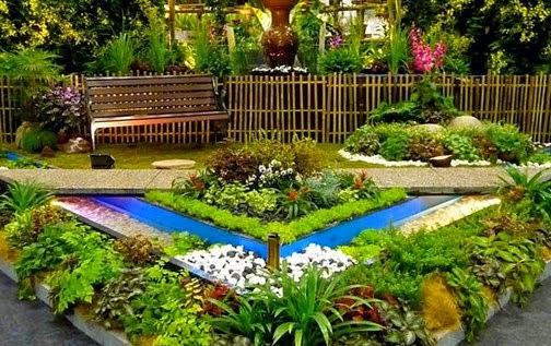 ide desain taman bunga