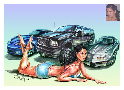 pin-up with cars
