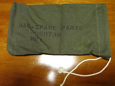Dead-stock 1950's U.S.Army Spare Parts Bag