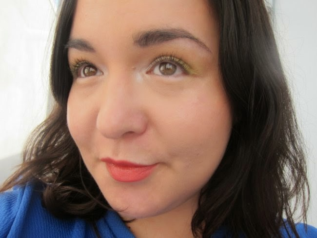 Wearing NARS Tropical Princess eyeshadow and Hot Sand Illuminator