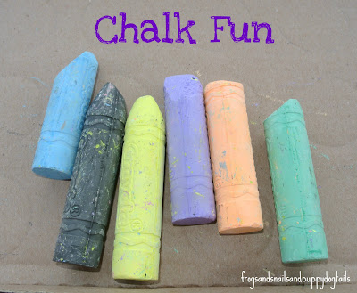 Cardboard & Chalk kid Activity