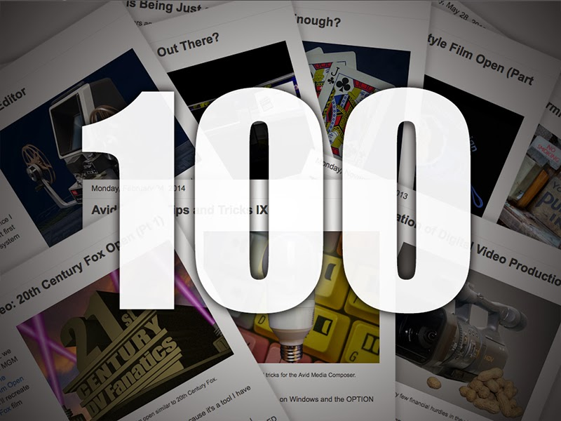 The 100th DV Fanatics blog discussing techniques and technology in digital film and video.