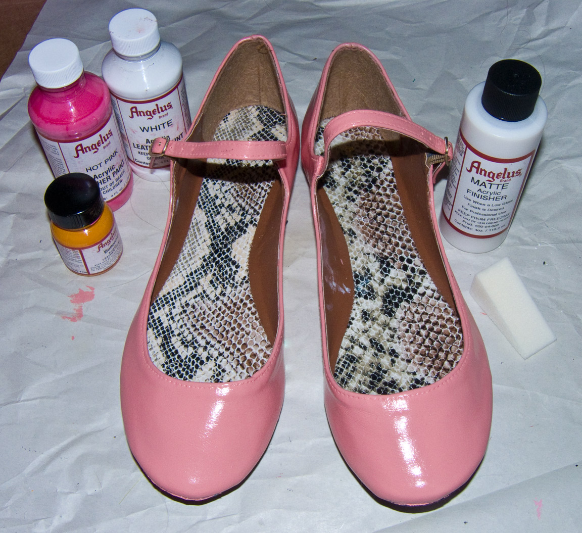 Pink Leather Dye Shoes
