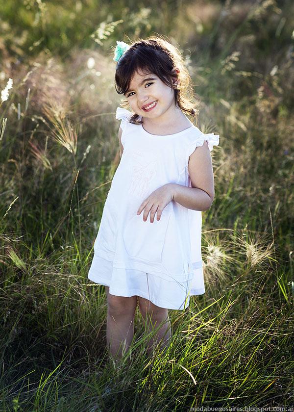 Vestidos primavera verano 2016 nenas. Jersey de Algodón, Chichí Lelé primavera verano 2016.