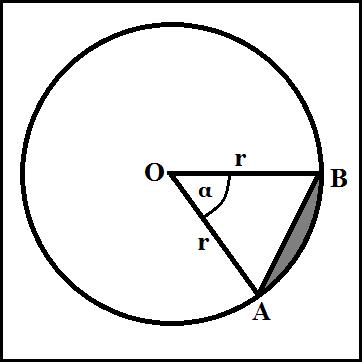 Menghitung Luas Tembereng Jika Sudut Pusat dan Jari-Jari Diketahui