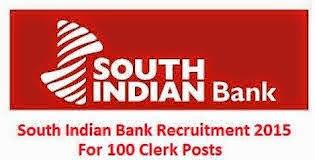 100 Probationary Clerk Jobs at South Indian Bank (SIB) Tamil Nadu Recruitment 2015