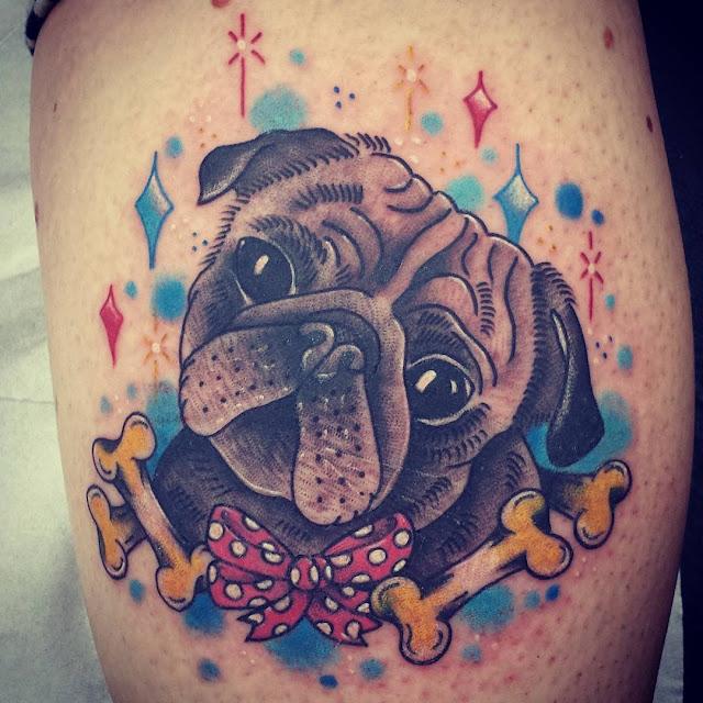 Tatuagens inspiradas em adoráveis Pugs
