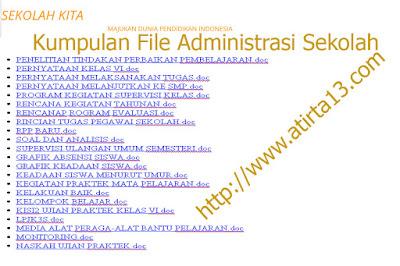 Kumpulan [ 56 ] File Administrasi lengkap keperluan Sekolah dan Kelas Tahun 2015-2016