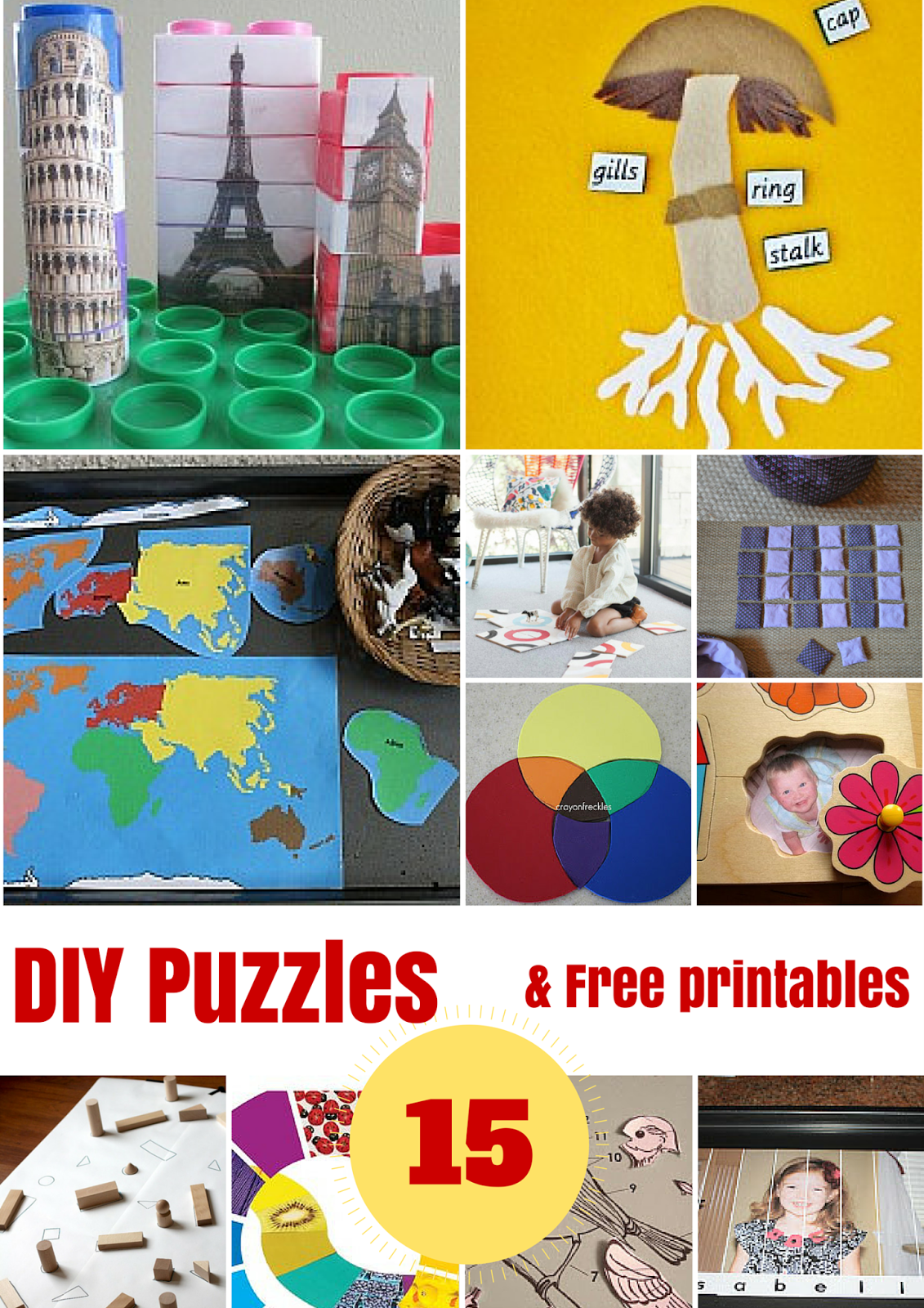 graphic about Diy Printables referred to as Do-it-yourself PUZZLES AND Free of charge PRINTABLES - Montessori Character