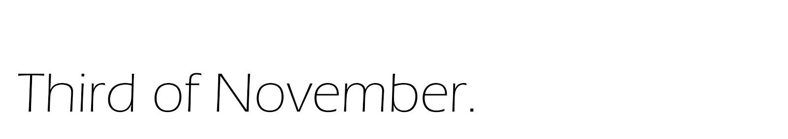 Third of November