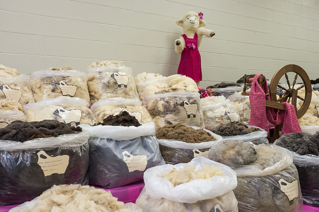 Bags of Wool at the York Fair