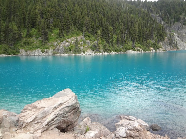 Turquoise water of Garibaldi Lake