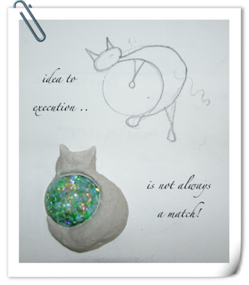 a cabochon and a cat idea