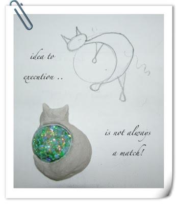 a cabochon and a cat idea