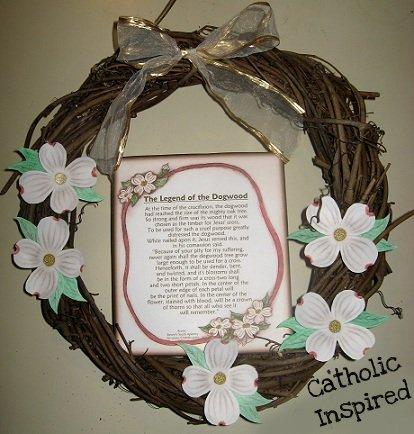 photo about Legend of the Dogwood Tree Printable titled The Legend of the Dogwood Tree ~ Crafts and Playing cards - Catholic