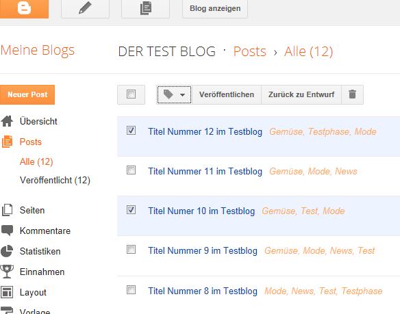 Labels bei Blogger Blogspot anzeigen
