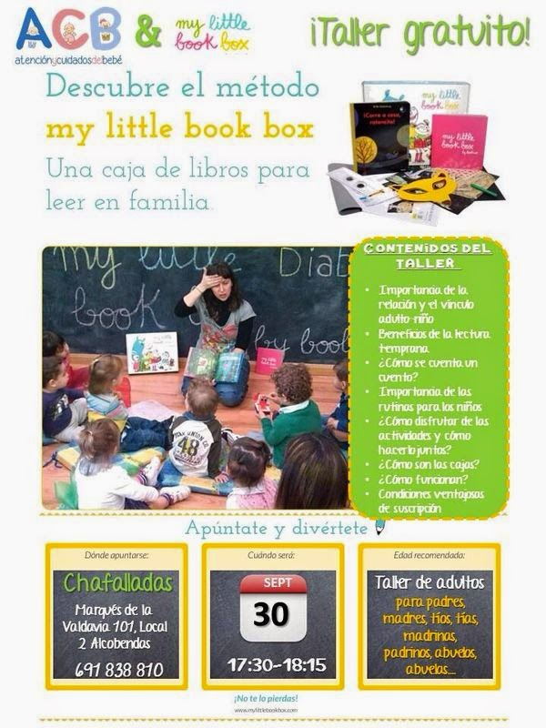 Taller de adultos my little book box. GRATIS!!