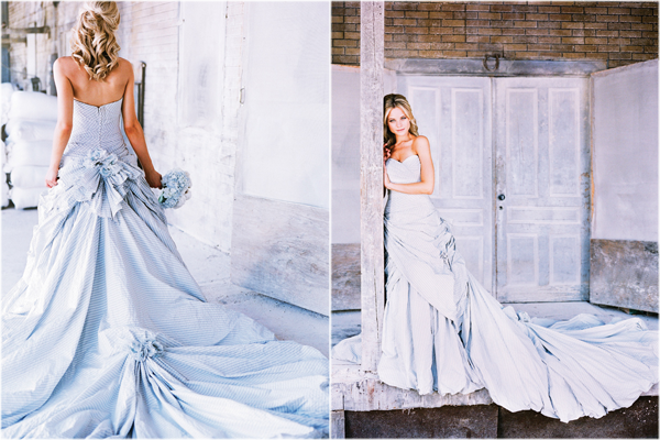 blue and white striped wedding dress 54
