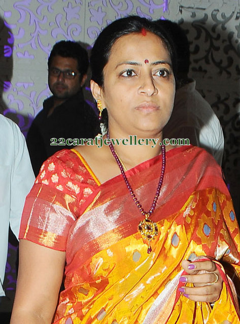 Nagababu Wife Beads Long Set Jewellery Designs