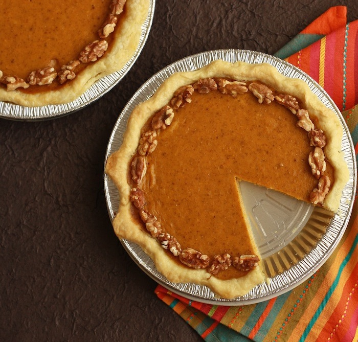 Walnut Pumpkin Pie recipe by SeasonWithSpice.com