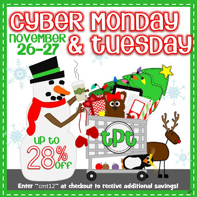 photo of: Teachers Pay Teachers Cyber Monday/Tuesday SALE