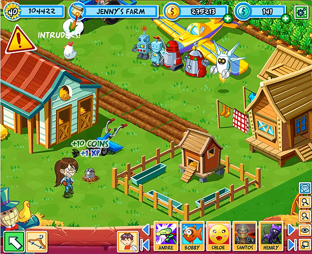 green farm touch screen game free