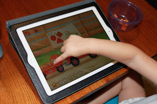 picture prompts to complete task in FireTrucks: 911 iPad app