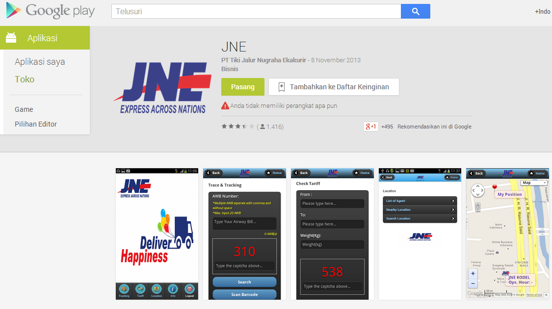 Download JNE di Google Play