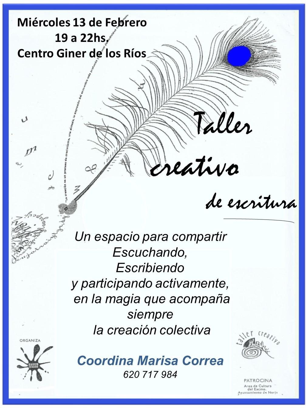 TALLER DE ESCRITURA CREATIVO