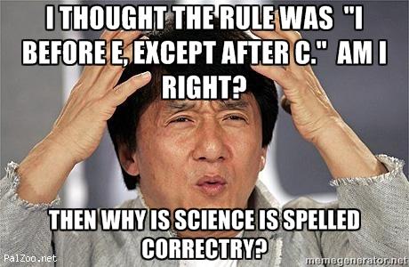 Grammar Rule Breaker: I before E?