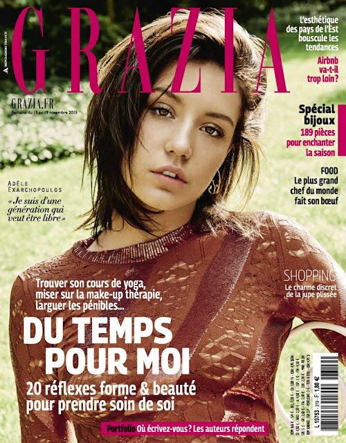 Actress @ Adele Exarchopoulos - Grazia France, Novembre 2015