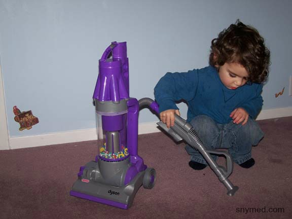 Flashback My Son With His Toy Dyson Vacuum Cleaner