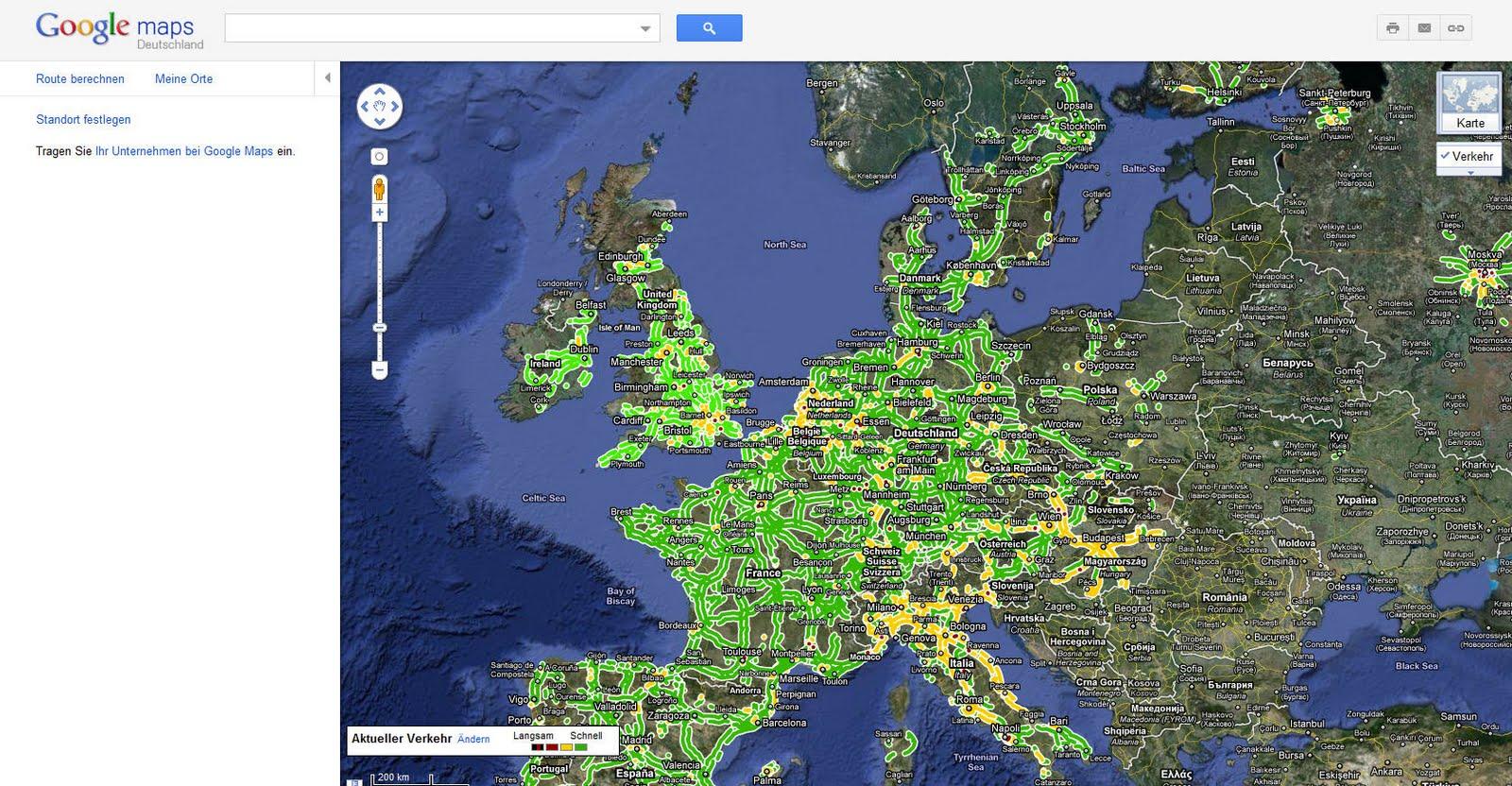 Deutschlandkarte Blog Google Maps Zeigt An Sofort Staus Und