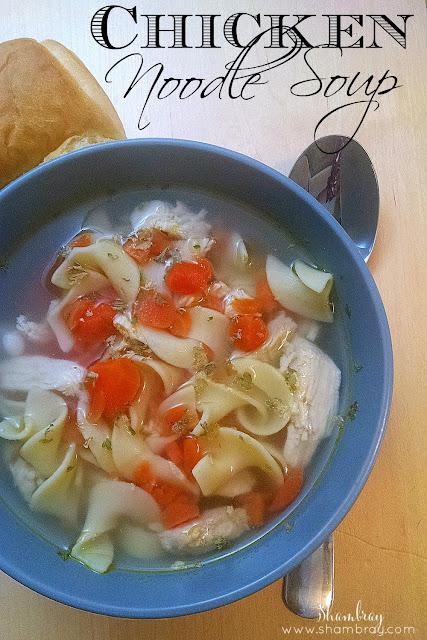 Parsley, peppercorns, bay leaf, thyme, garlic, carrots, onion powder, chicken, egg noodles, salt
