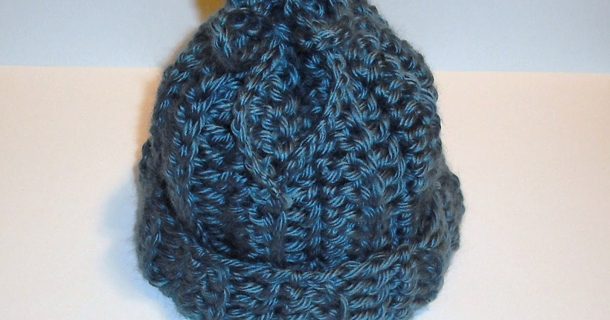 Crochet Hat Patterns For Dummies : CharacterCrochet: Rib-look newborn baby hat and a FREE PATTERN