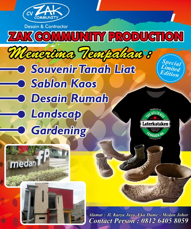 "Design Backdrop ""Zak Communty Production"""
