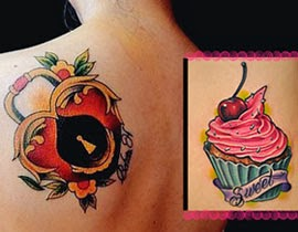 Imagens de tatuagens femininas delicadas