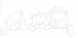 """""""risco tres ursinhos para pintar"""""""