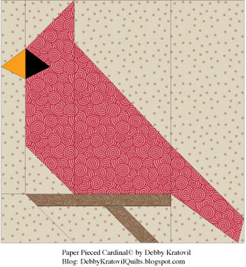 Free Printable Paper Piecing Quilt Patterns : Debby Kratovil Quilts: Cardinals All Through the Year