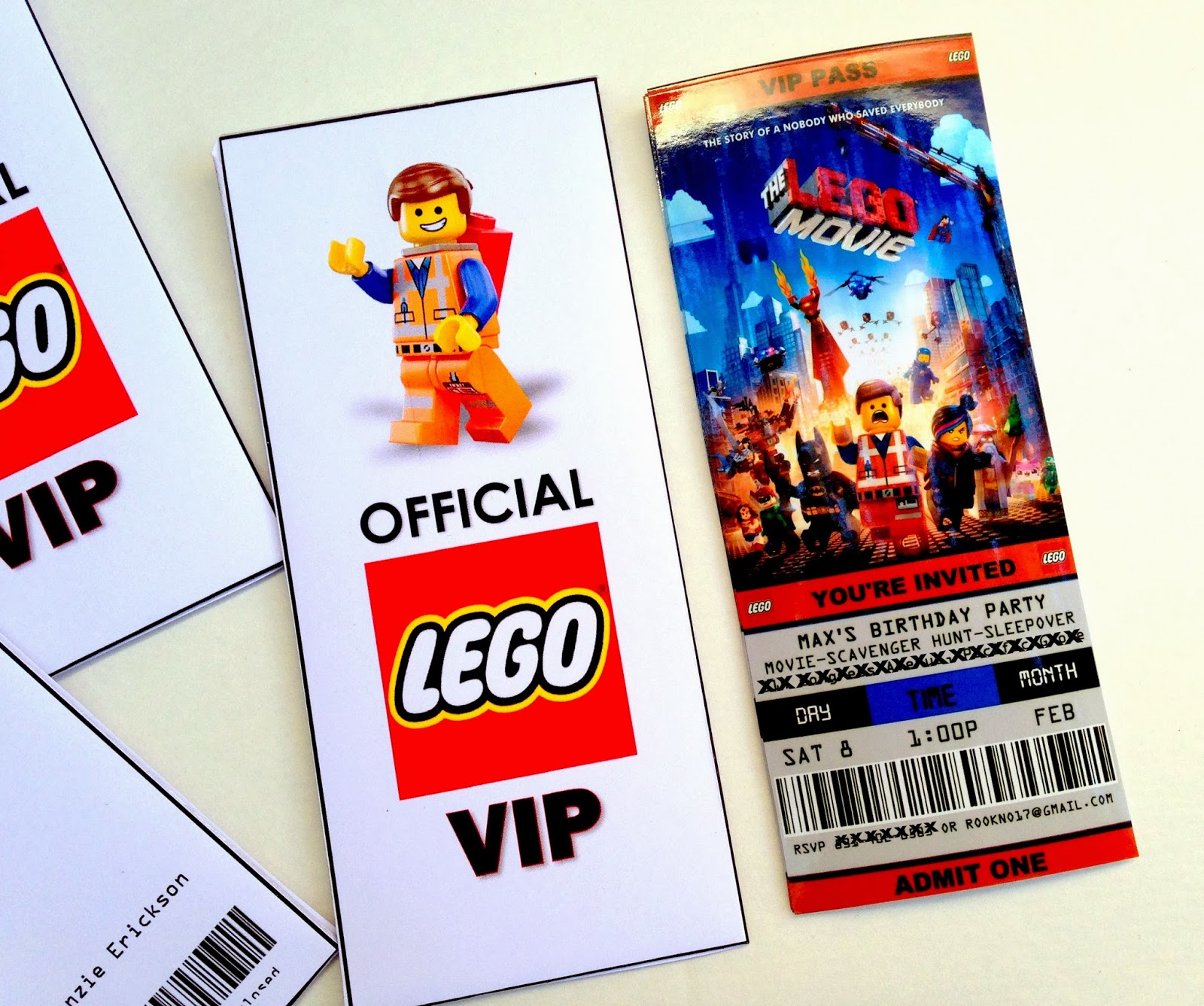 Nice Free Printable Ticket Style Party Invitations    The Lego Movie Regarding Free Printable Ticket Style Invitations
